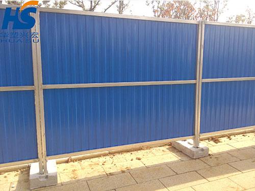 庆阳地区4米高移动彩钢围挡